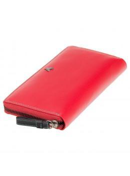 Женский кожаный портмоне Visconti SP33 RED M красный