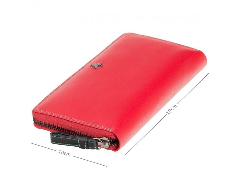Женский кожаный портмоне Visconti SP33 RED M красный - Фото № 5