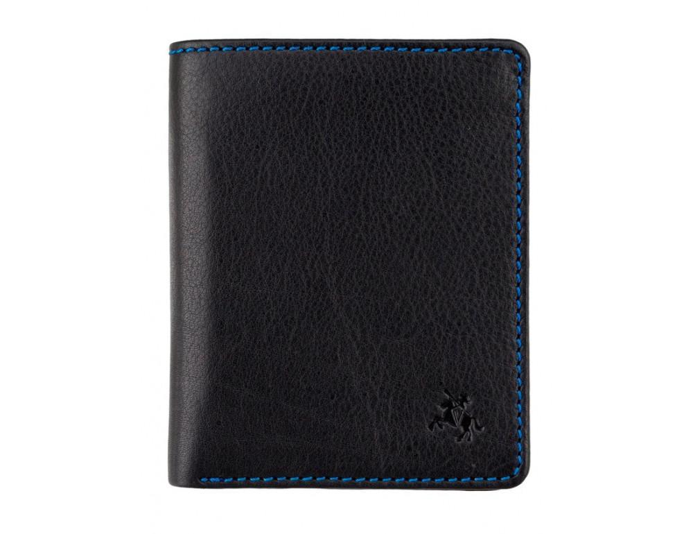 Чёрный мужской кошелёк Visconti SP60 BLK M Alder - Фото № 1