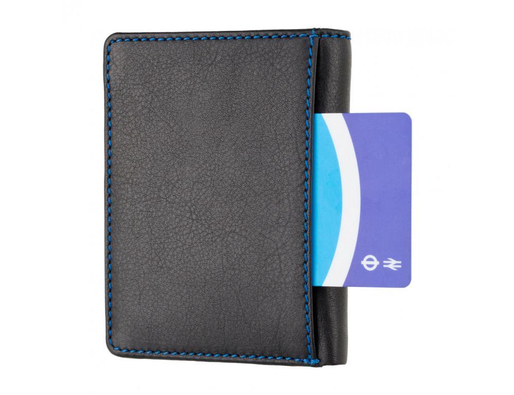 Чёрный мужской кошелёк Visconti SP60 BLK M Alder - Фото № 4