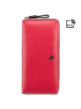 Стильний жіночий гаманець червоного кольору Visconti SP79 RED M Violet c RFID