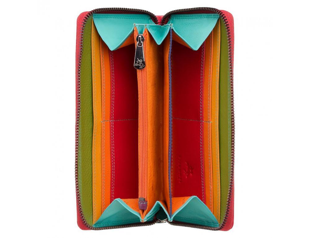 Стильный женский кошелёк красного цвета Visconti SP79 RED M Violet c RFID - Фото № 2