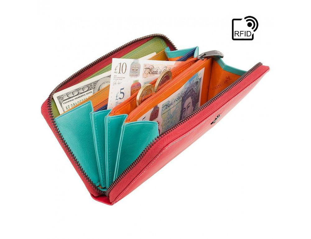 Стильный женский кошелёк красного цвета Visconti SP79 RED M Violet c RFID - Фото № 4