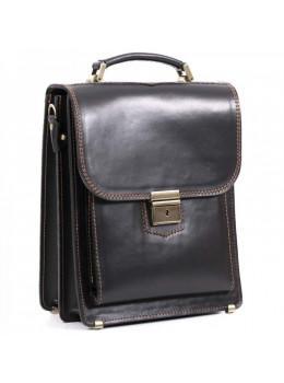 Чёрный кожаный портфель-планшет Manufatto СПБ-2