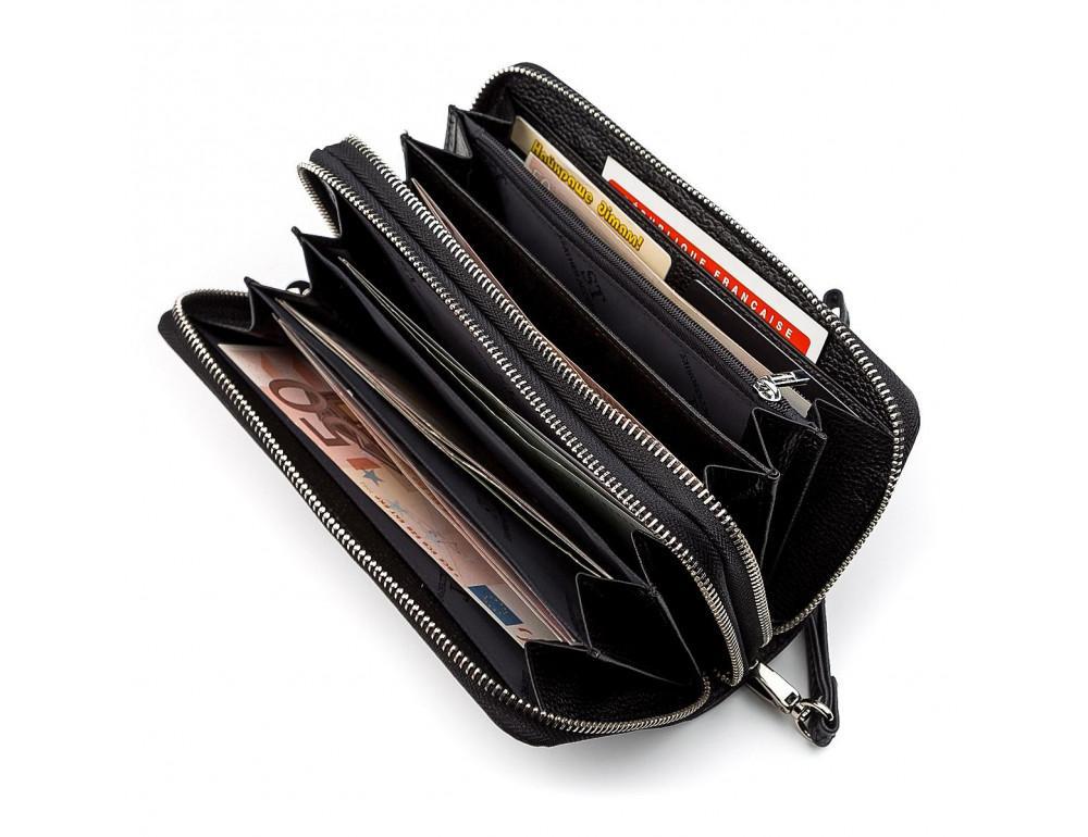 Чёрный кожаный клатч ST Leather ST127A - Фото № 2