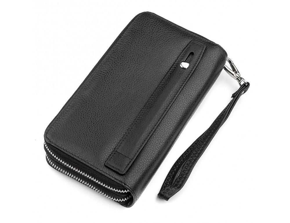 Чёрный кожаный клатч ST Leather ST127A - Фото № 3
