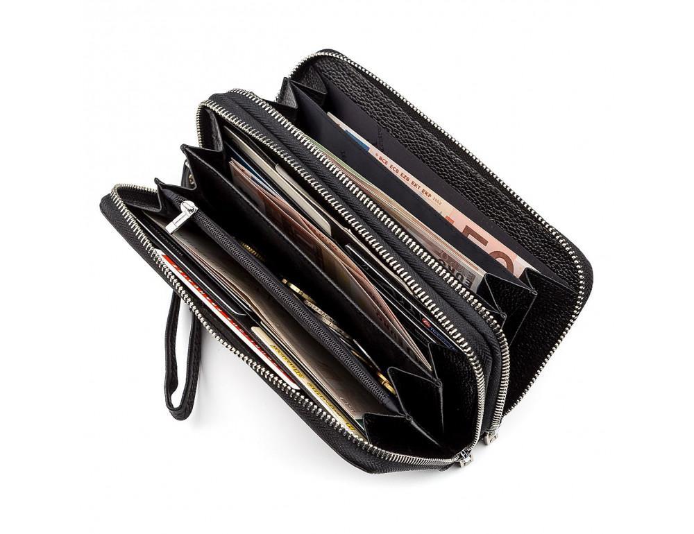Чёрный кожаный клатч ST Leather ST127A - Фото № 4