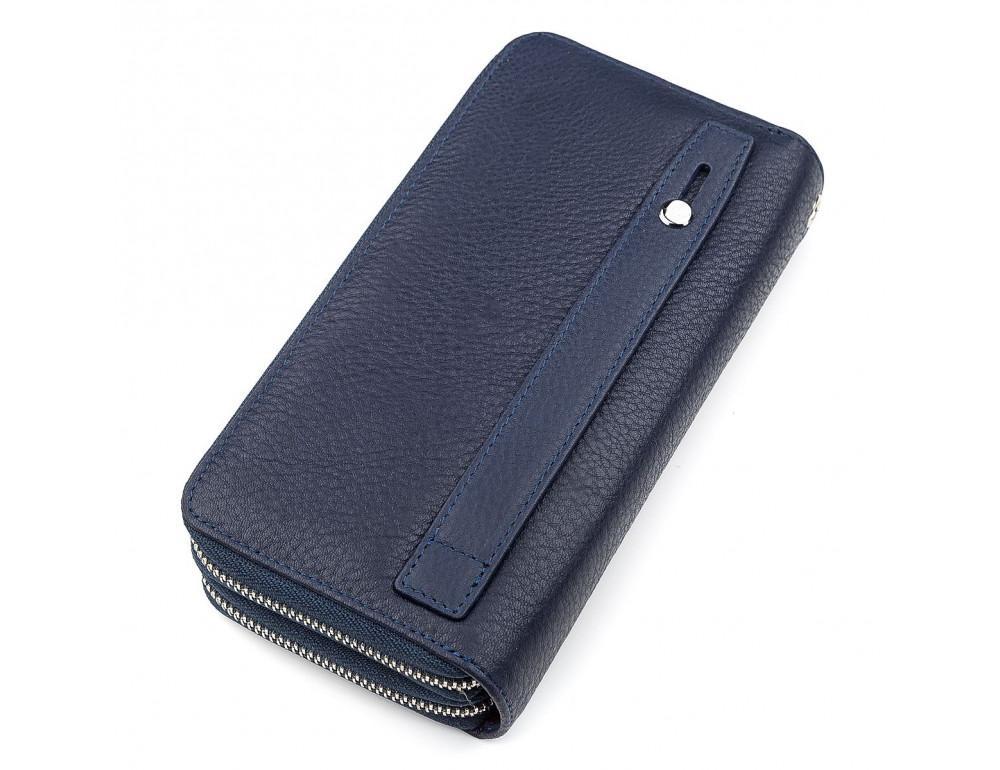 Синий кожаный клатч ST Leather ST127B - Фото № 2