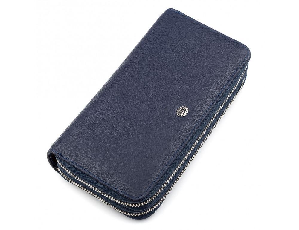 Синий кожаный клатч ST Leather ST127B - Фото № 1