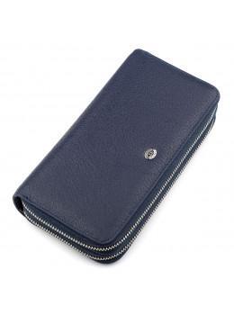 Синій шкіряний клатч ST Leather ST127B