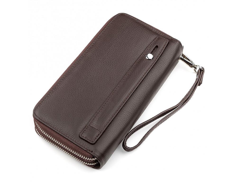 Коричневый кожаный клатч ST Leather ST127C - Фото № 2