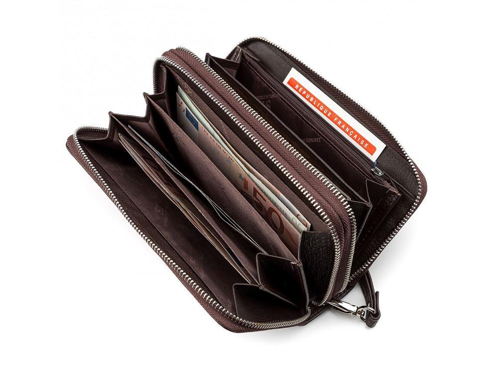 Коричневый кожаный клатч ST Leather ST127C - Фото № 3