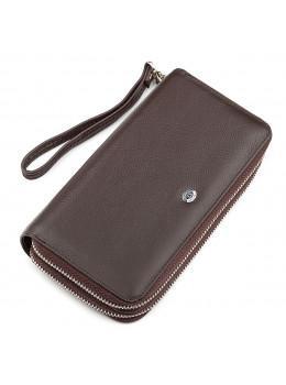 Коричневий шкіряний клатч ST Leather ST127C