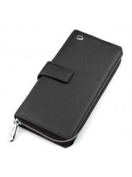 Чёрный кожаный кошелек ST Leather ST128A