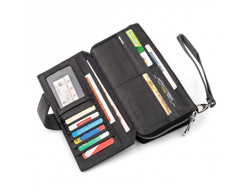 Чёрный кожаный кошелек ST Leather ST128A - Фото № 2
