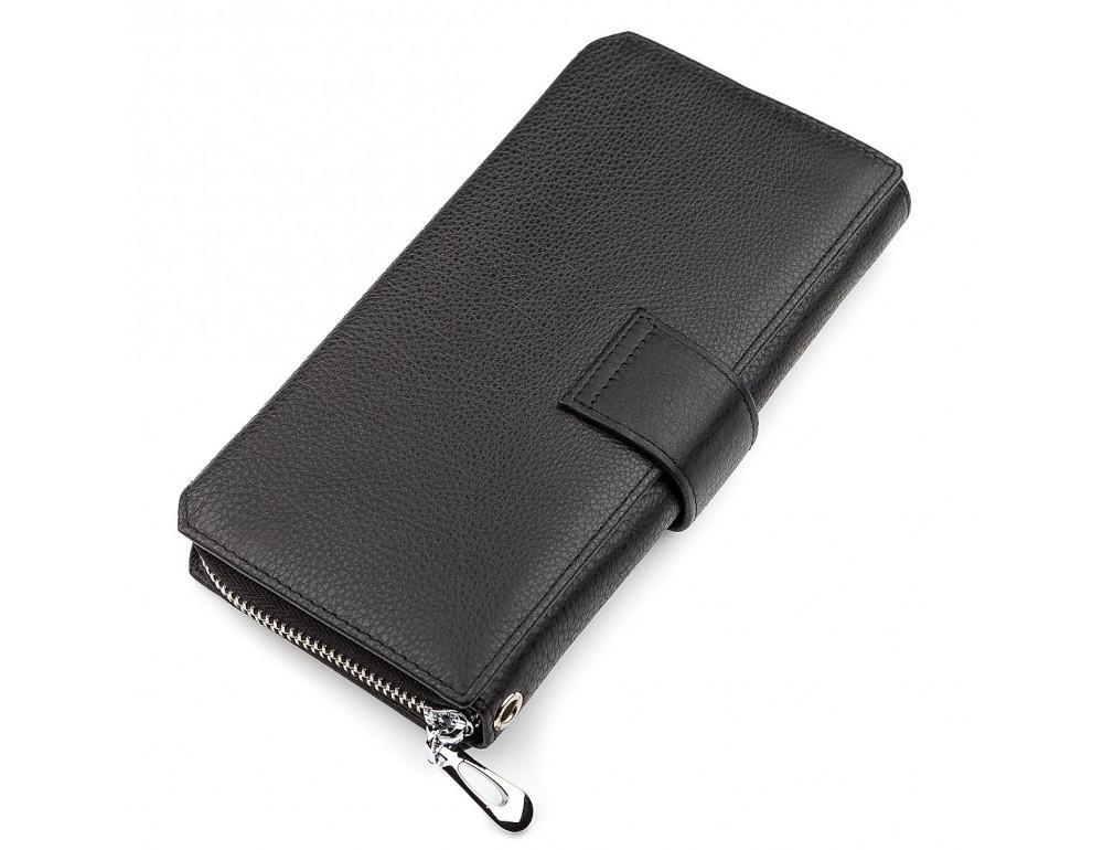 Чёрный кожаный кошелек ST Leather ST128A - Фото № 3