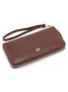 Коричневый кожаный клатч ST Leather ST138-3C