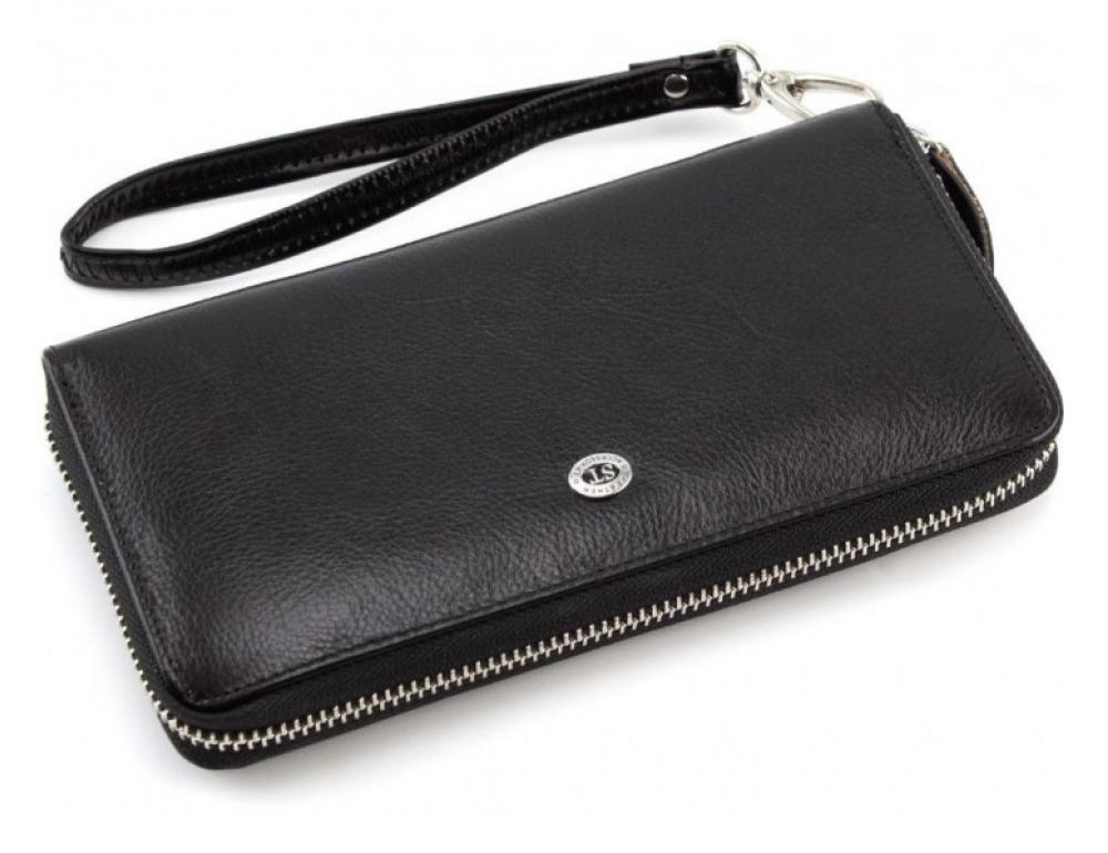 Чорний шкіряний клатч ST Leather ST138-3A