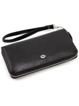 Чёрный кожаный клатч ST Leather ST138-3A