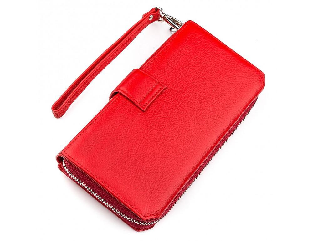 Красный кожаный кошелек ST Leather ST228R - Фото № 2