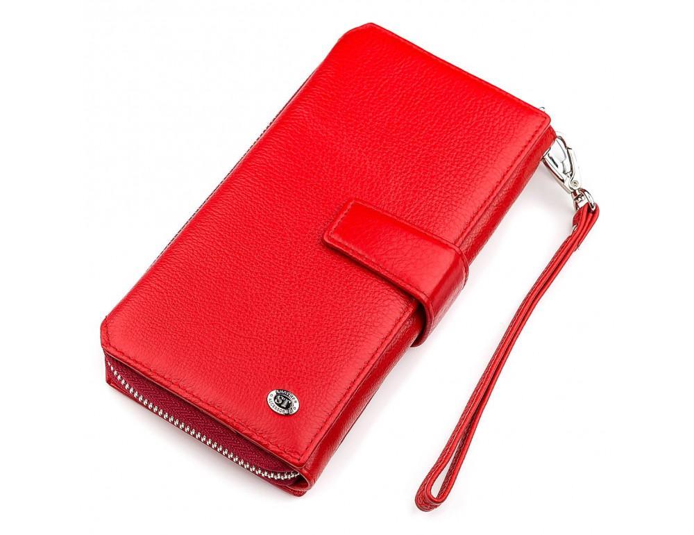 Красный кожаный кошелек ST Leather ST228R - Фото № 1