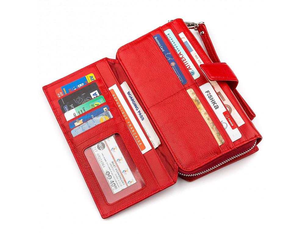Красный кожаный кошелек ST Leather ST228R - Фото № 3