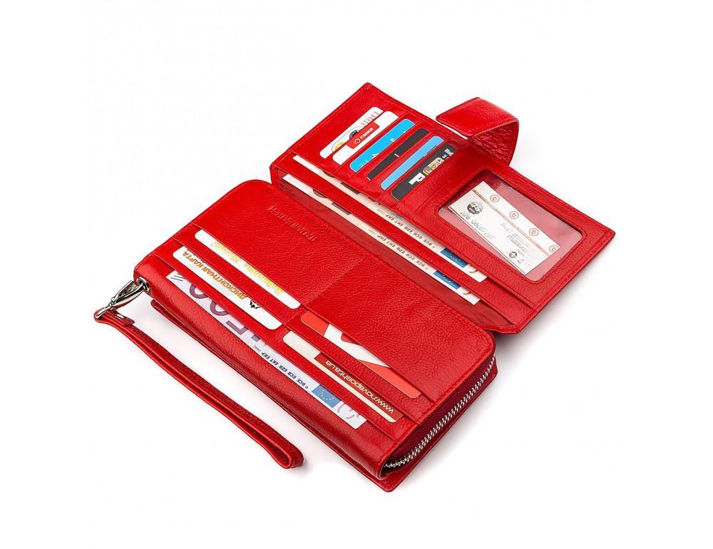Красный кожаный кошелек ST Leather ST228R - Фото № 4