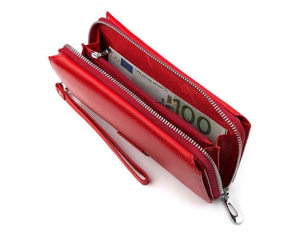 Красный кожаный кошелек ST Leather ST228R - Фото № 5