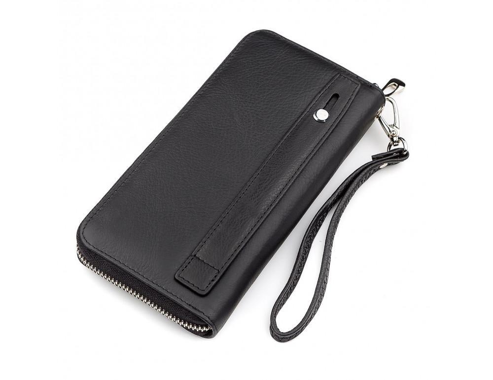 Чёрный кожаный клатч ST Leather ST45A - Фото № 2