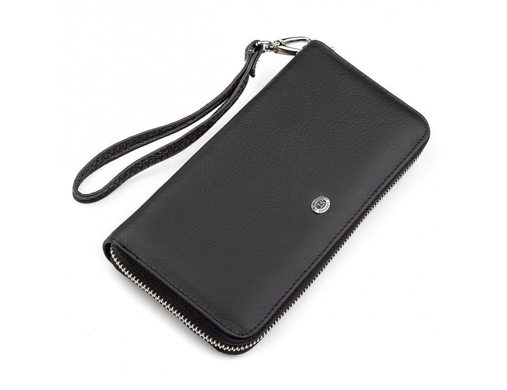 Чёрный кожаный клатч ST Leather ST45A - Фото № 1
