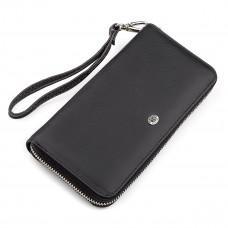 Чёрный кожаный клатч ST Leather ST45A