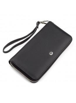 Чорний шкіряний клатч ST Leather ST45A