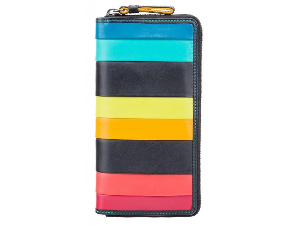 Чёрный кожаный женский кошелёк-клатч Visconti STR5 BLK M Corfu c RFID - Фото № 1