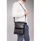 Чёрная сумка мессенджер Tavinchi S-009A - Фото № 101