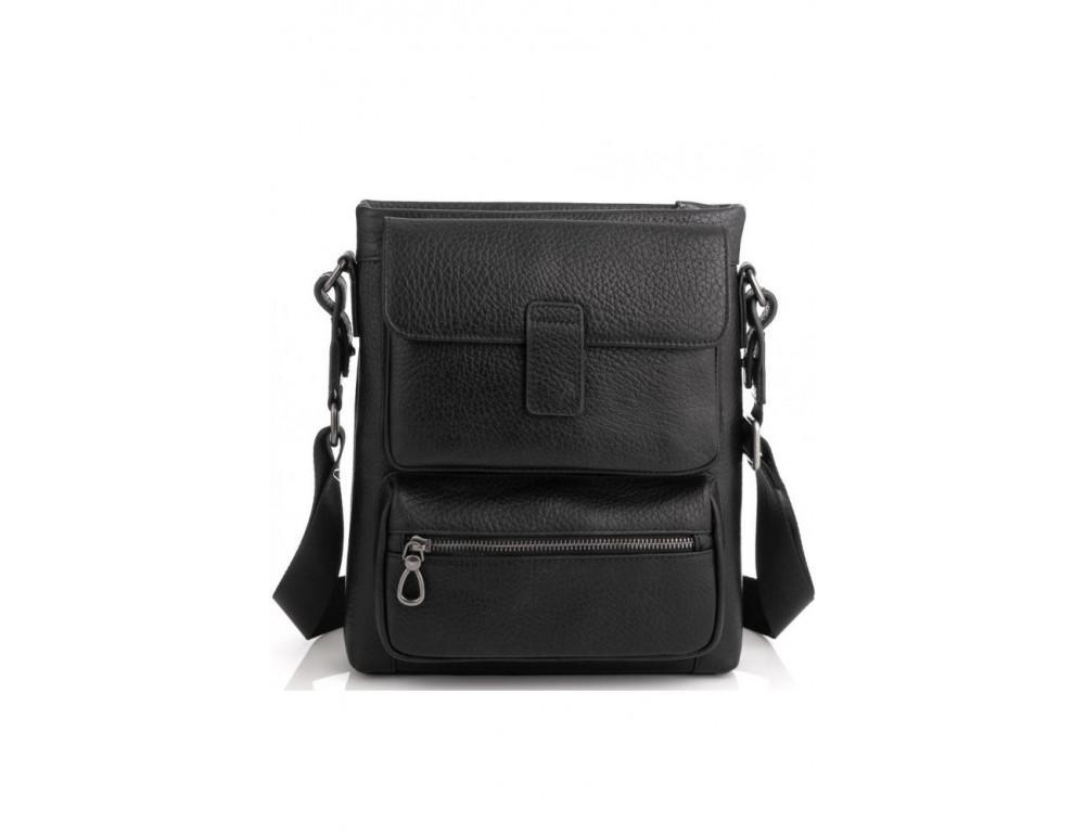 Чёрная сумка мессенджер Tavinchi S-009A - Фото № 5