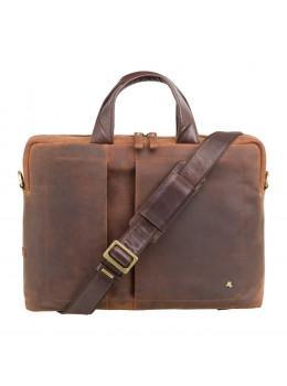 Коричнева вінтажна сумка під MacBook Visconti TC76 TAN Octo 13