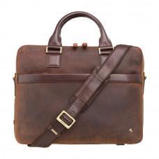 Коричневая кожаная сумка Visconti TC88 TAN/MLN Victor 13