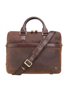 Коричнева шкіряна сумка Visconti TC88 TAN/MLN Victor 13