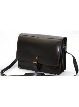 Черная мужская сумка через плечо классическая Manufatto ПОЧТАЛЬОН