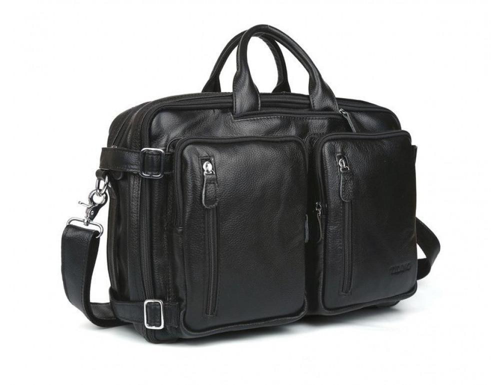 Кожаная сумка-рюкзак TIDING BAG T3013 - Фотографія № 2