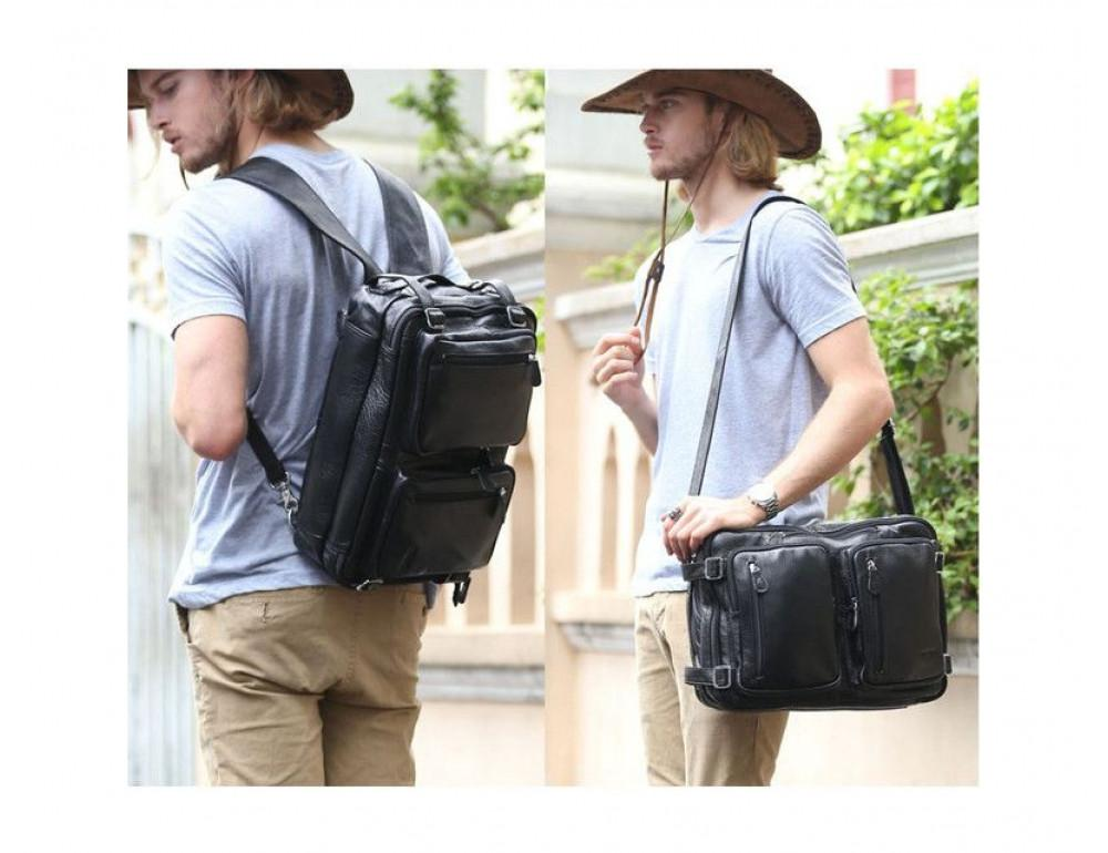 Кожаная сумка-рюкзак TIDING BAG T3013 - Фотографія № 6