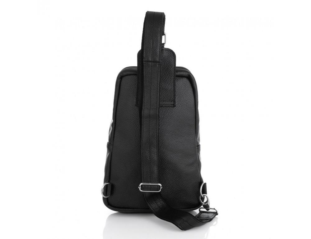 Чёрная кожаная сумка на грудь мужская Newery N41719FA - Фото № 3