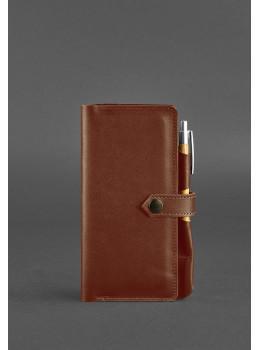 Светло-коричневый кожаный органайзер под документы Blanknote BN-TK-4-K