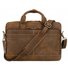 Коричневая винтажная сумка из натуральной кожи Tiding Bag t0033