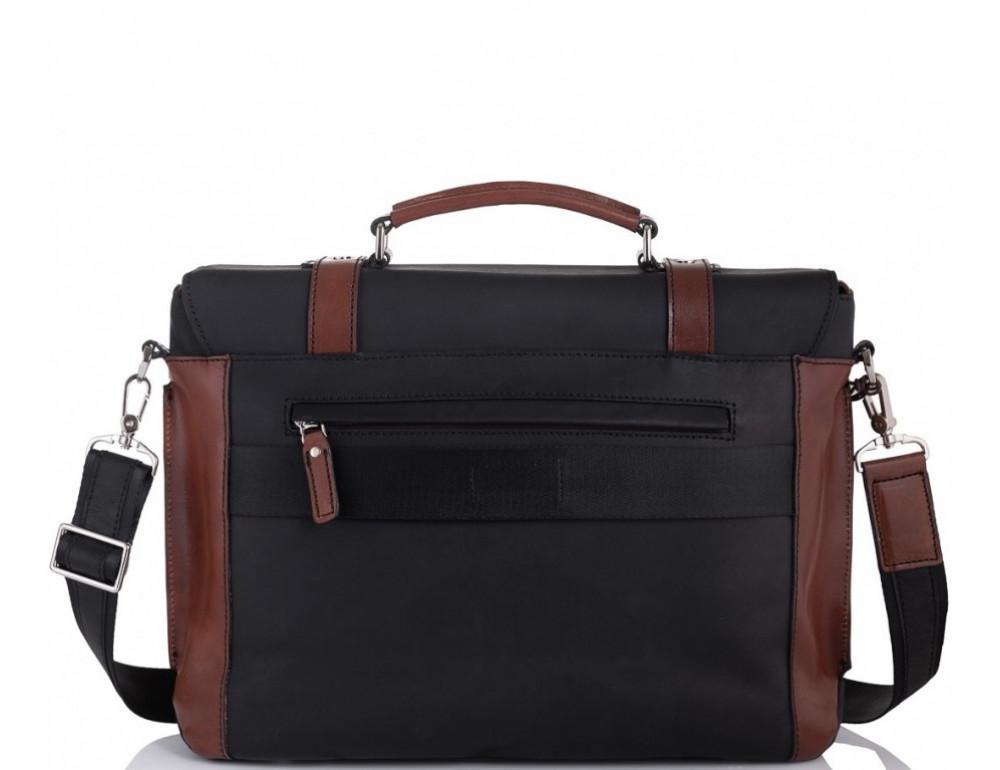 Коричневый кожаный портфель Tiding Bag t0041 - Фото № 2