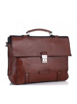Коричневий шкіряний портфель Tiding Bag t0041