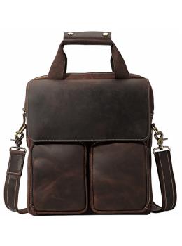 Коричневая мужская сумка-мессенджер Tiding Bag t1072