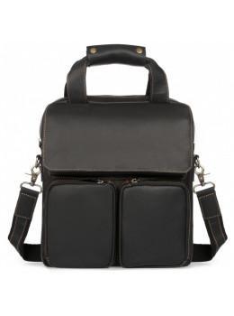 Чёрная мужская сумка-мессенджер Tiding Bag t1072A