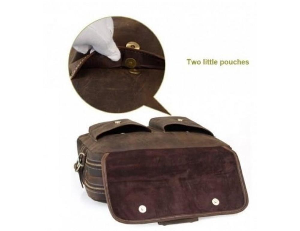 Кожаная сумка TIDING BAG T29523 коричневая - Фото № 5