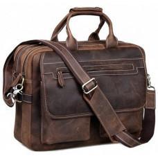 Шкіряна сумка TIDING BAG T29523 коричнева